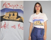 40% Limited time SALE  - Vintage 90s Midnight Oil Diesel and Dust Alternative Rock Band T Shirt - Screen Stars 50/50 Tee -  W00367