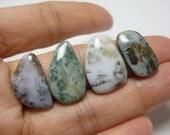 Ocean Jasper Cabochons - Lot of 4 - Freeform, Loose Stones, Gemstone, Unique Pattern, Colorful