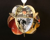 RESERVED for Ceciliah86: 2 Beach Boys Album Cover Ornaments Made Of Record Jackets