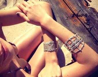 Sterling Silver .925 Open Weave Cuff