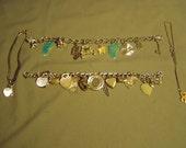 Vintage Lot 4 Sterling Silver Charm Bracelets 26 Charms Hearts Whale Buffalo Streetcar Auto 9101