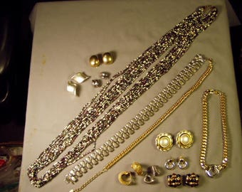 Vintage Lot Erwin Pearl Marked 12 Pcs Necklace Earrings Set Seed Bead Necklace More 9237