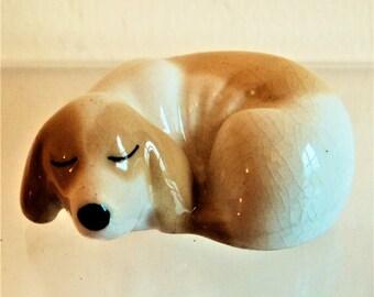 Miniature Sleeping Dog Ornament... Szeiler England