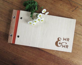Wedding Guestbook.  Engagement Gift. Anniversary Gift. Wedding Guest Book. Mr and Mr