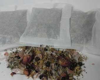 Herbal Bath Tea Bags, Set of 3 Large! Lavender Juniper Rosemary Spearmint Chamomile Salts