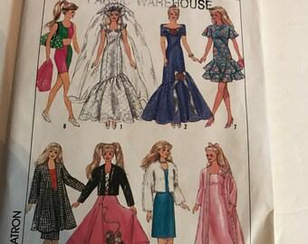 Simplicity  barbie doll dress pattern