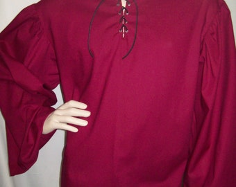 Reniassance / Pirate Men Peasant Red Shirt Size Small CLEARANCE!