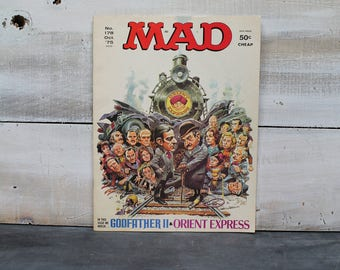 Oct. 1975 Mad Magazine, No. 178, Godfather II & The Orient Express