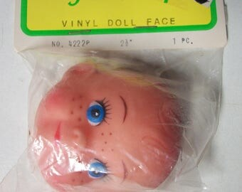 Vintage FibreCraft Latex Freckle Face Doll Mask