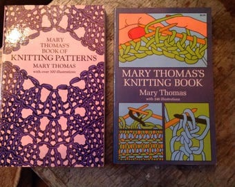 Mary Thomas Book of Knitting Patterns Lot of 2 Books