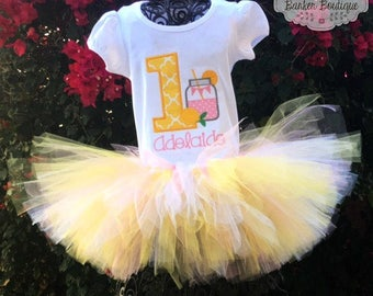 Lemonade Stand Birthday Tutu Set Shirt Outfit