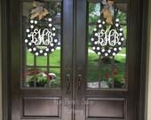 Monogramed, horseshoe, derby, equestrian, door or wall hanger