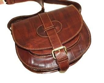 Leather Saddle Bag, Leather Messenger Bag, Leather bag, Leather Messenger, Leather Purse, Leather Cross-body Bag, IPhone case,Goldmann S,tan