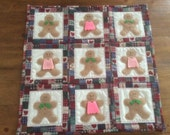Gingerbread Girl and Gingerbread Boy Christmas Quilt and/or Wall Hanging