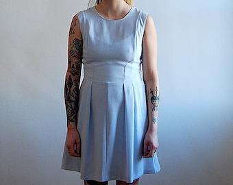 vintage 90's light blue mini dress
