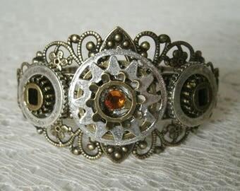 Steampunk Cuff Bracelet, steampunk jewelry victorian jewelry gothic jewelry fantasy goth bracelet edwardian bracelet neo victorian bracelet