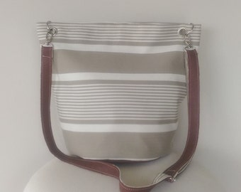 Canvas and Leather Stripe