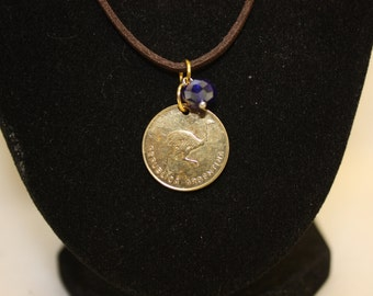 Coin Necklace Rebuplica Argentina - Bird