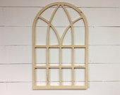 "Unfinished Vintage Inspired 22.5"" x 35"" Vertical Arch Window Frame"