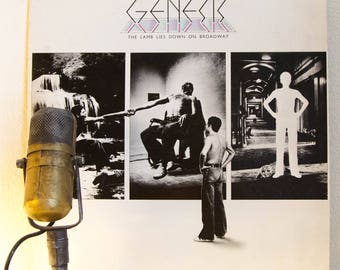 "ON SALE Genesis Vinyl Record Album (w/ Peter Gabriel) ""The Lamb Lies Down on Broadway"" (1974 Atco 2LP Gatefold with lyric inner sleeves)"