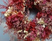 Preserved Hydrangea Wreath - A Petite Treasure Perfect For Any Season, Any Space