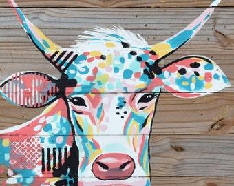 NEW! 11x14 Cow print