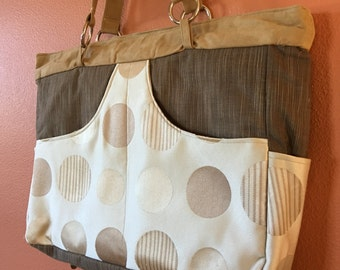 Phoebe #1328:  Extra Large Purse, Extra Large Tote, Zippered Purse, Knitting Bag, Knitting Tote, Project Knitting Bag, Project Tote, Purses