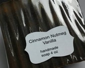 Cinnamon Nutmeg Vanilla handmade soap