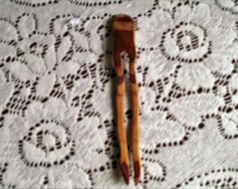 Hazelnut Dymondwood Hair Fork