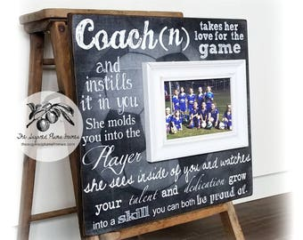 Coach Gift, Soccer Coach Gift, Coach Thank You Gift, Coach Frame, Baseball Coach, Basketball Coach, 16x16 The Sugared Plums Frames