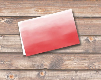 """Red Watercolor Ombre Place Cards Printable Food Tags Menu Place Card Wedding Baby Shower Birthday 3.5 x 2.25"""" Tent Style INSTANT DOWNLOAD"""