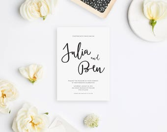 Wedding Invitation Sample - The Julia Suite