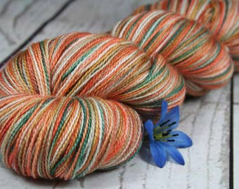 WINTER at BRYCE CANYON: Superfine Merino-Silk - Lace Weight Yarn - Hand dyed lace yarn - Indie dyed lace - Variegated yarn