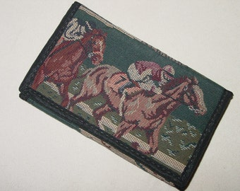 Churchill Downs Horse Racing Tapestry Wallet