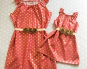 Mommy and Me Dresses - Mommy and Me Outfits - Mother Daughter Dresses - Matching Dresses - Baby Shower Gift - Raspberry Sorbet - Pink Dress