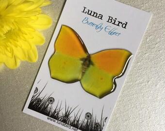Butterfly Effect Brooch, Yellow (YB28) by Luna Bird for the 1200 Butterfly Wall at Butterfly Effect Exhibition