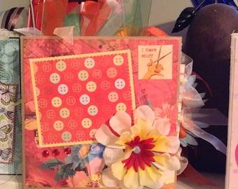 I Make Stuff 6x6 Paper Bag Scrapbook for the creative woman