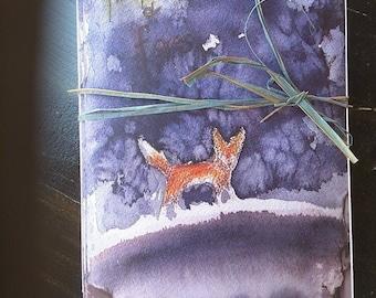 Fox Greeting Cards Original Artwork 3-pack with envelopes