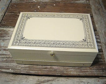Brand New Vintage Mele Jewelry Box with Slide Out Drawer