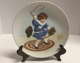 Vintage Bessie Pease Gutmann Collector Plate 1985 Once Upon a Childhood Strenuous