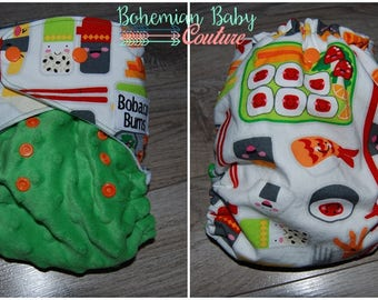 OS One Size Happy Sushi AI2 All in Two Cloth Diaper