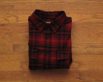 mens LL Bean chamois shirt