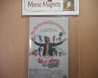 Willy Wonka and The Chocolate Factory Movie Poster Magnet Gene Wilder children movie