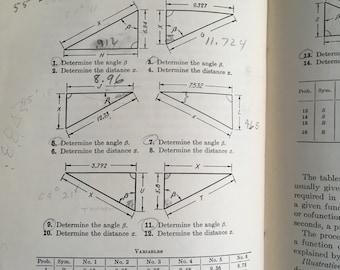 Vintage math book  shop mathmematics