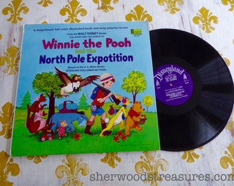 1968 Winnie The Pooh and the Expotation Vintage Vinyl lp Disneyland Records NM-
