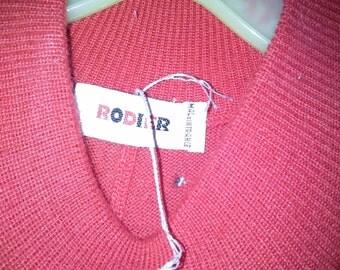 nearly free RODIER  Red Wool Dress