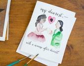 Hamilton Greeting Card - My Dearest with a Comma After Dearest - Anniversary Card - Wedding Card - Love - Valentine's Day Card
