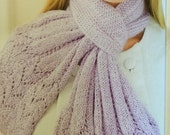 """Tudor Lace  Approx 5 1/2"""" W x 51""""L / 16 1/2 """" across botton edge.  A Nicky Epstein Signature Scarf. Perfect for making you feel so special."""