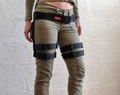 Double Strap Full Thigh Harness - Black - polypropylene/webbing - apocalypse - cosplay - bushcraft Please read description for size