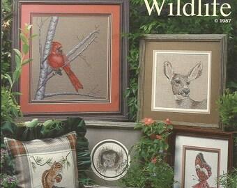 "Vintage Cross My Heart ""Woodland Wildlife"" Cross Stitch Leaflet"